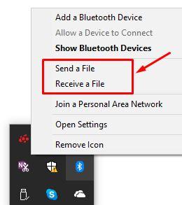mengirim dan menerima file lewat bluetooth di windows 10