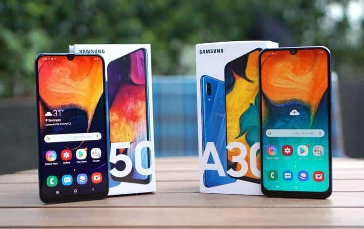 samsung galaxy a50 vs samsung galaxy a30