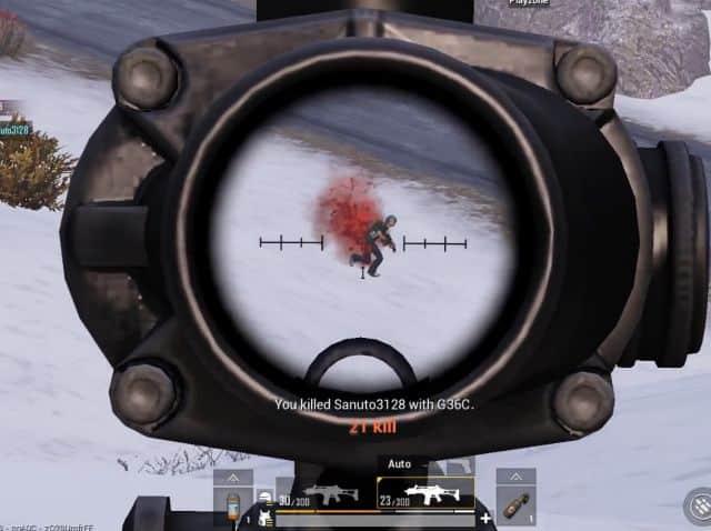 senapan g36c recoil terkecil di pubg mobile