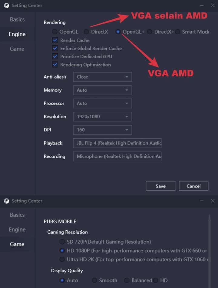 settingan pubg mobile emulator gameloop ram 8 gb no lag