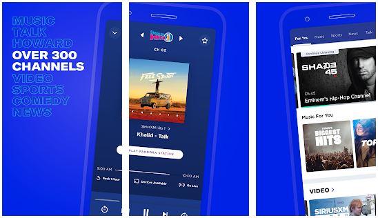 siriusxm radio apps