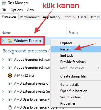 solusi black screen di windows 10