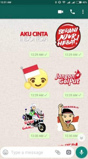 stiker whatsapp hut ri ke 74