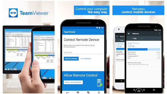 teamviewer for remote control